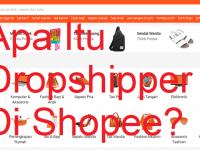apa itu dropshipper di shopee