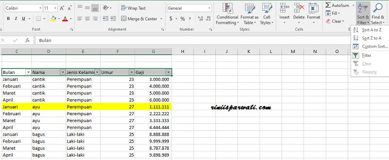 cara mengelompokkan data yang sama di excel