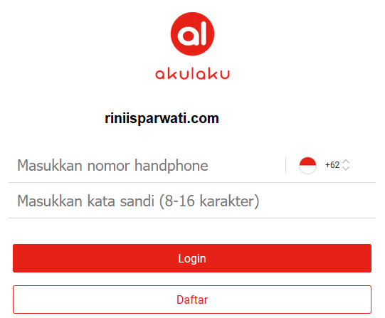 cara log in dan daftar akulaku via website
