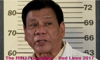 RINJ Red Lines 2017 - Rodrigo Duterte