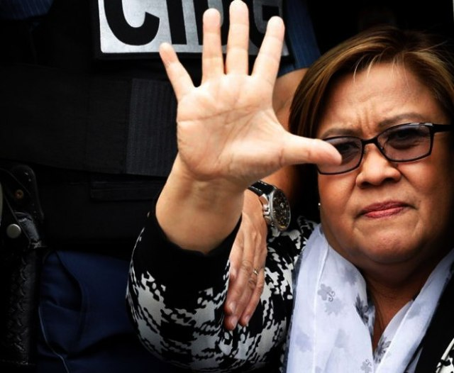 Filipina Senator Leila de Lima in custody in Manila