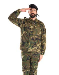 兵士の敬礼