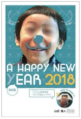 山田家2018年の年賀状