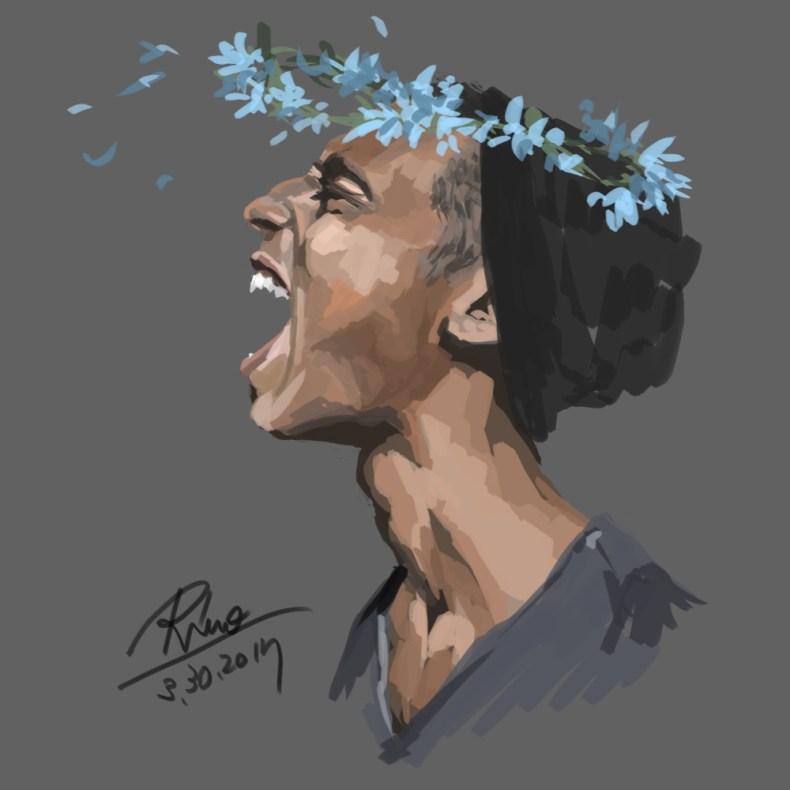 【花冠シリーズ】笑う男性