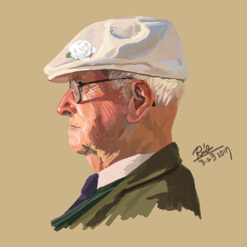 【花冠シリーズ】おじいさん横顔