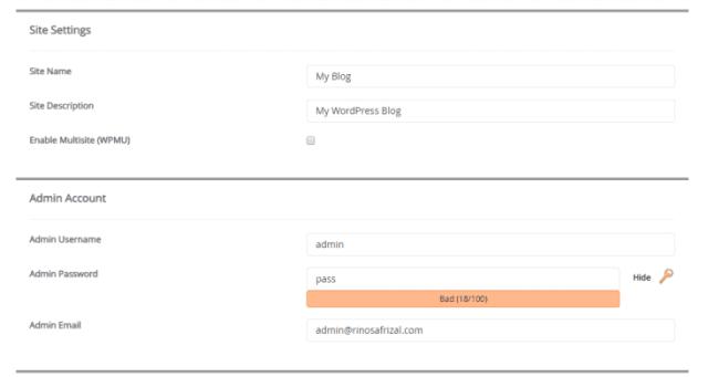 Konfigurasi wordpress pada cPanel