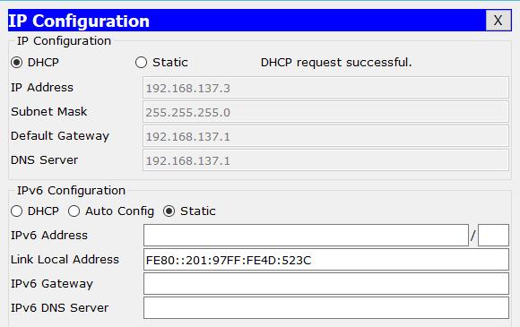 Konfigurasi dhcp server pada router cisco