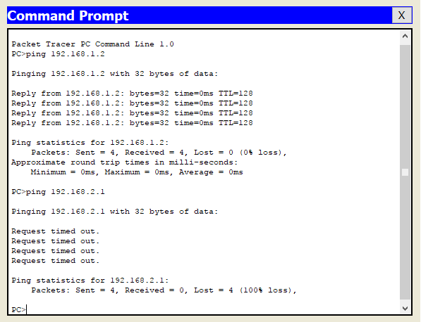 Uji konfigurasi VLAN