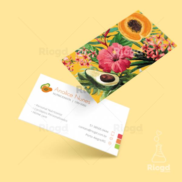 Cartão de Visita Tropical Búzios
