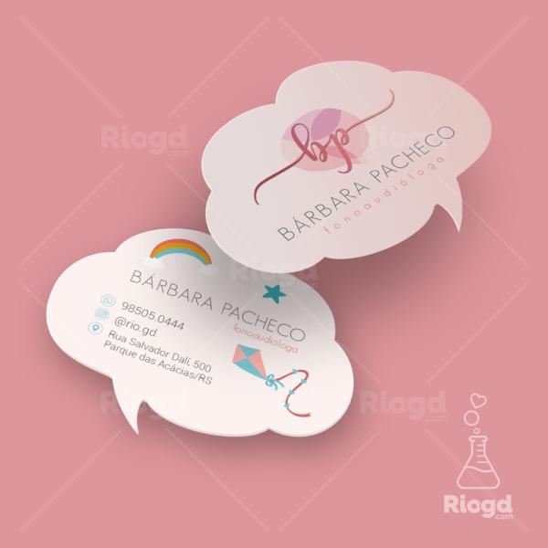 Cartão de Visita Fonoaudiologia Comunicativo