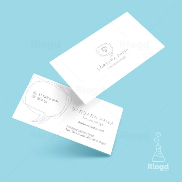 Cartão de Visita Fonoaudiologia Confiante