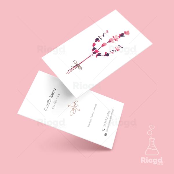 Cartão de Visita Psicologia Lily