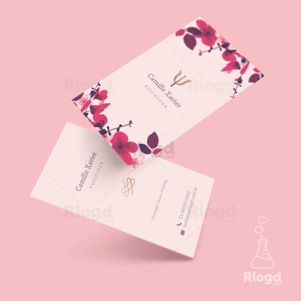 Cartão de Visita Psicologia Fleur