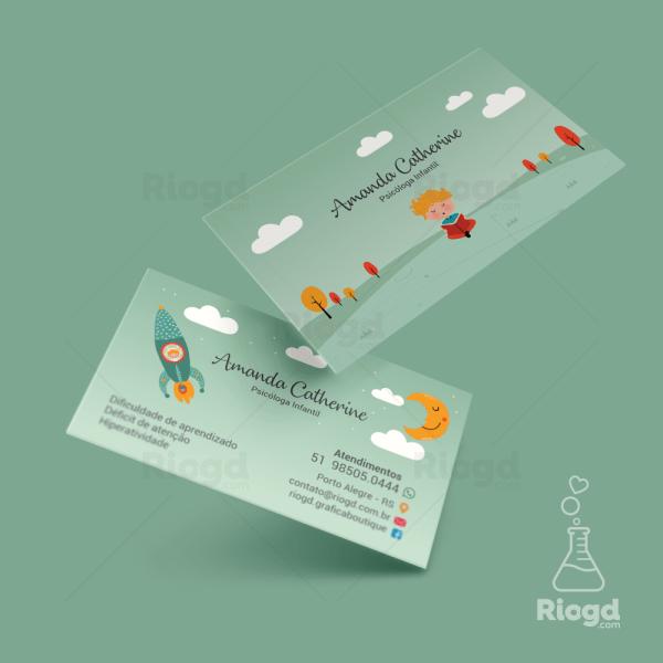 Cartão de Visita Psicologia Dreamer