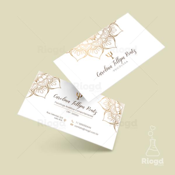 Cartão de Visita Advocacia Oriente Gold