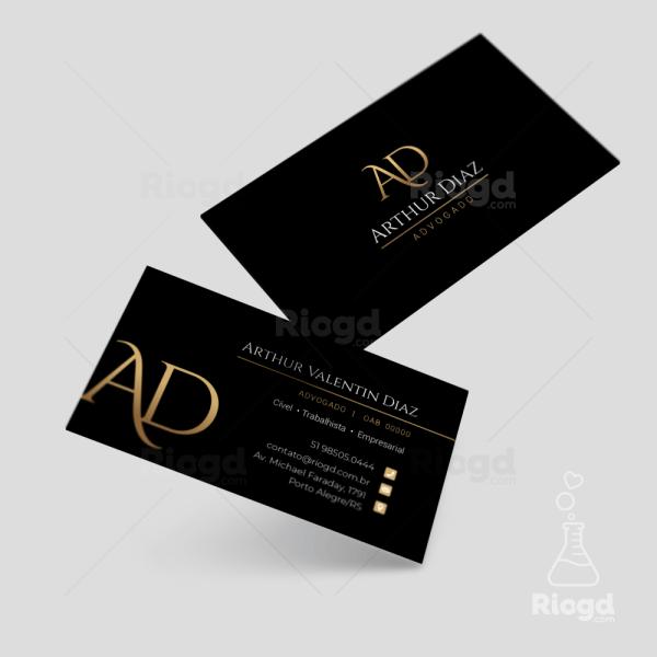 Cartão de Visita Advocacia Golden Black