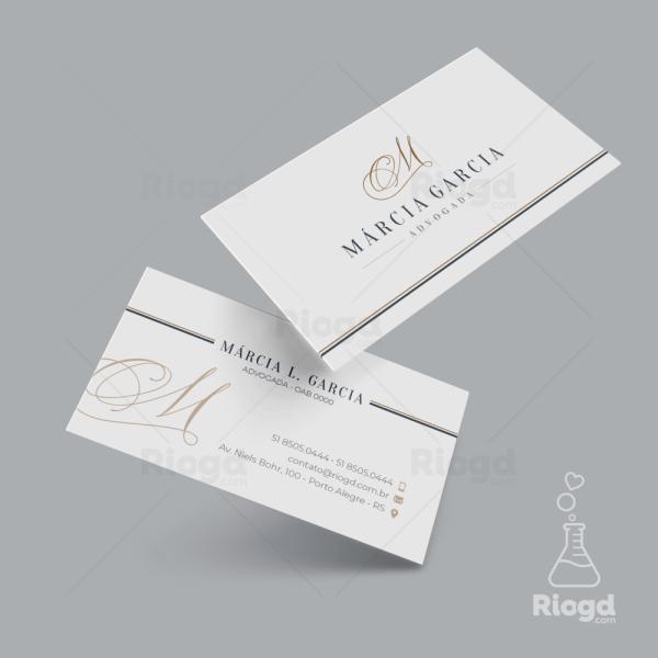 Cartão de Visita Advocacia Elegance Milão