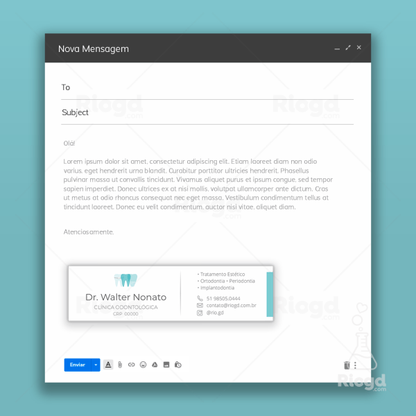 Assinatura de e-mail odontologia Topázio