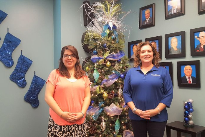 Laura Espinoza, Weslaco Chamber of Commerce's marketing director, and Bonnie Gonzalez, CEO of Knapp Community Care Foundation.