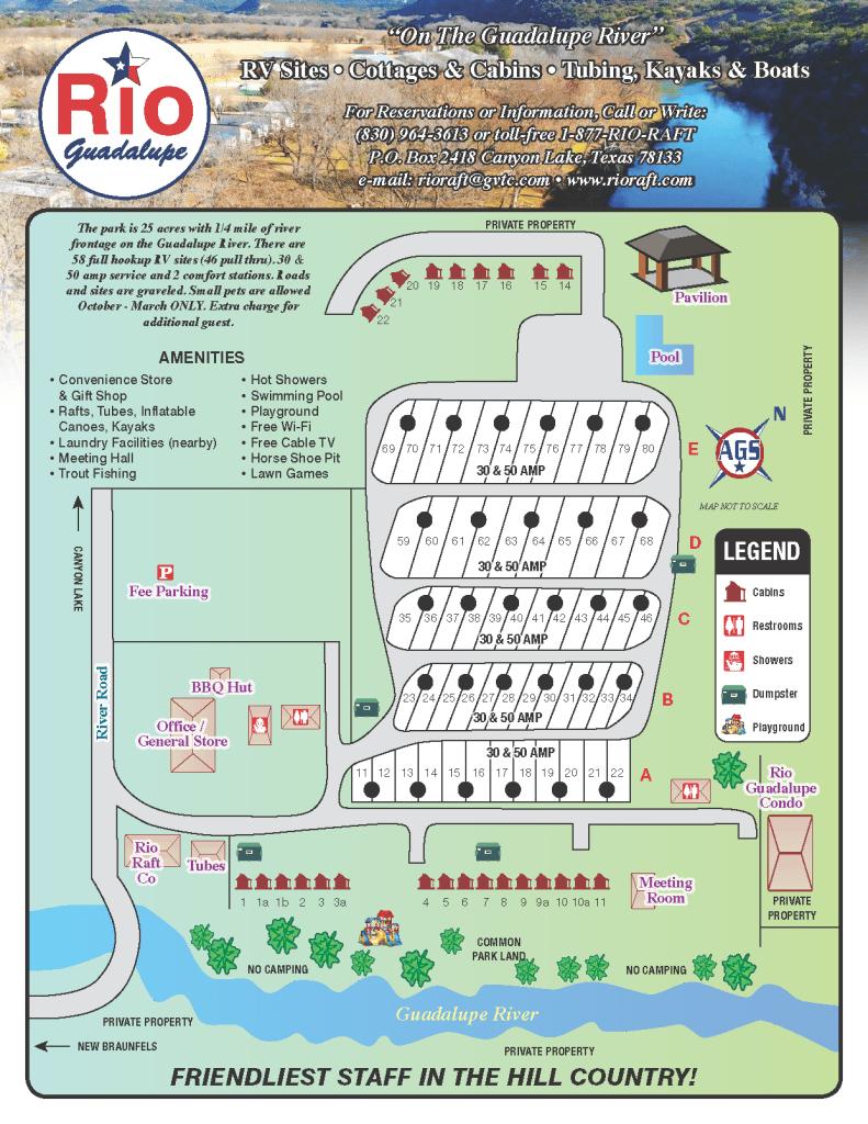 Rio Guadalupe Resort Park Map
