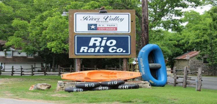 Rio Raft Sign