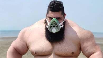 Photo of Volvió el Hulk iraní tras recuperarse del coronavirus y retó a su par brasileño a pelear