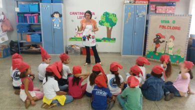 """Foto de Continuação do """"Projeto Folclore na Educação Infantil"""" na E.M.E.I. Professora Marinha Ferreira do Nascimento."""