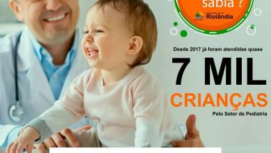 Foto de Você Sabia? Pediatria já atendeu mais de 7 mil crianças desde 2017