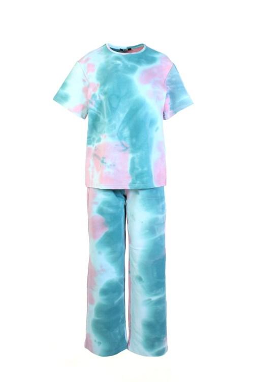 костюм тай-дай розово-голубой