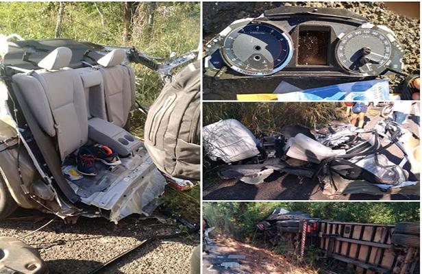 Corolla bate a 220km/h em carreta e mata motorista do filho da deputada Cleide Coutinho, em Timon