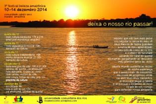 Cartaz-convite para participar no Festival Beleza Amazônica / Mendonça Cultural 2014