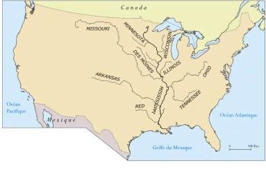 mapa del rio missouri