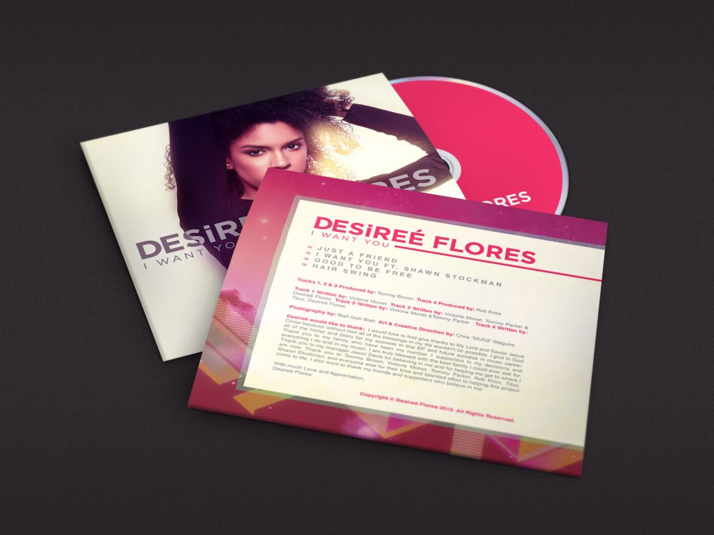 Desiree Flores | I Want You CD's