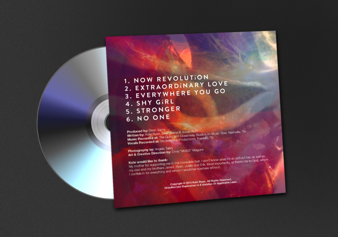 Kate Ryan | Now Revolution: Branding & Creative Direction - Back Cover In Situ