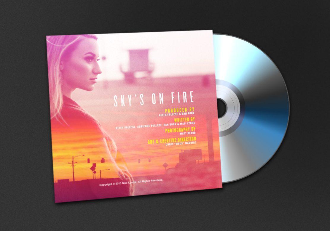 Mati Lyons - Sky's On Fire CD Jacket Back