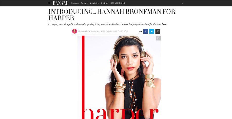 Harper's Bazaar   Introducing… Hannah Bronfman
