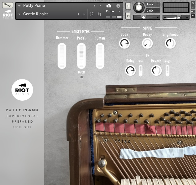 Putty Piano Kontakt View