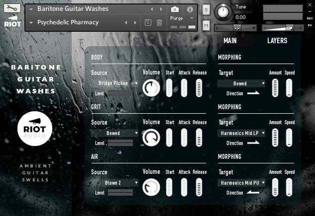 Baritone Guitar Washes - Layers Page