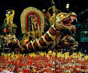 The Salguiero Samba School with its elaborate Carnival floats, photo by Jorge Schweitzer.