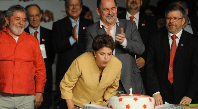 President Dilma Rousseff and ex-President Lula commemorate the 31st year anniversary of the Workers Party (PT)
