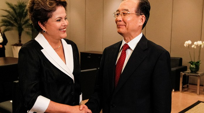 President Dilma Rousseff and Chinese Prime Minister Wen Jiabao shake hands during a meeting in Rio last week, Brazil News