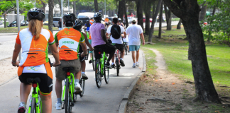Cyclists for Car-free day 2013