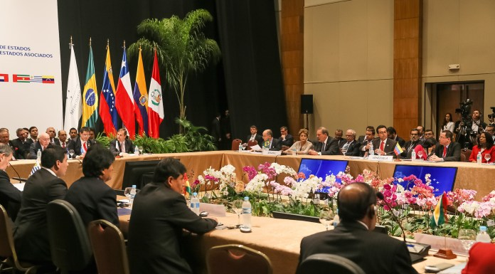 Brazil,The last time presidents of Argentina, Brazil, Paraguay, Uruguay, and Venezuela held a Summit, in December of 2015,