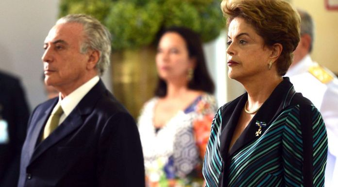 Brazil,Michel Temer and Dilma Rousseff,