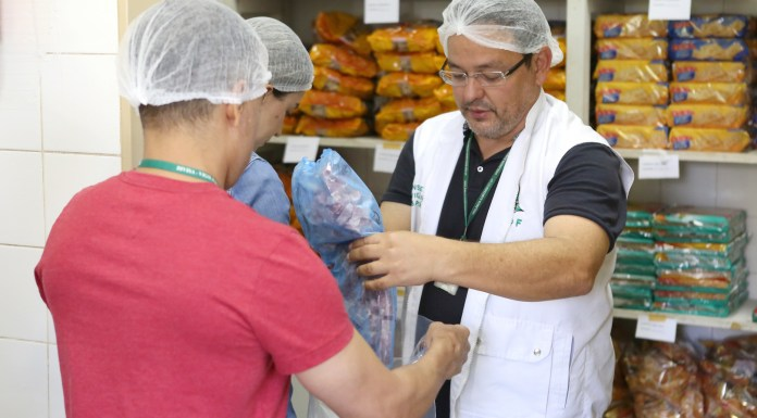 Brazil, Brasilia,Health inspectors retrieving meat from companies involved in the Carne Fraca Operation,