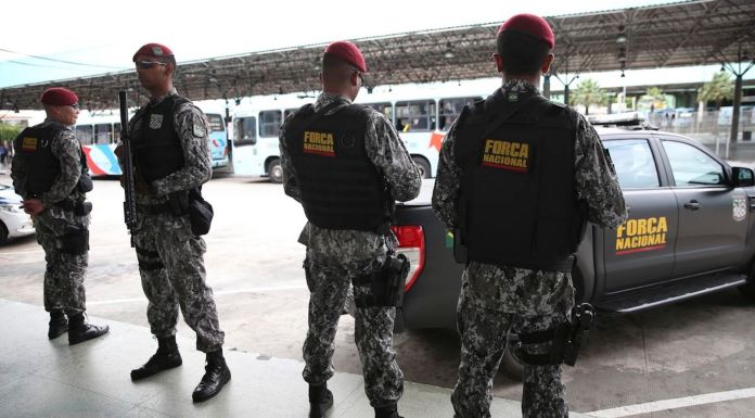 Brazil,National troops were sent to Fortaleza to help halt the surge in violence in the city and Ceara state.