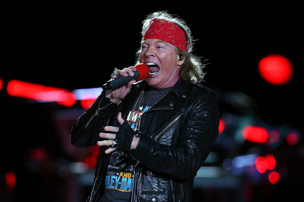 Axl Rose is the lead vocalist of Guns N' Roses.