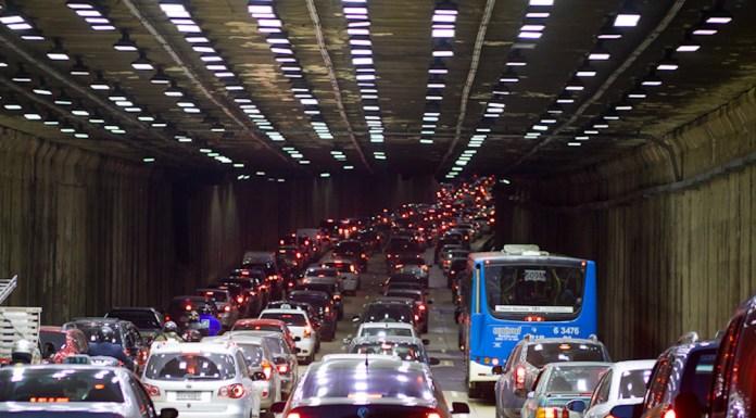 Brazil, Sao Paulo,São Paulo traffic jam