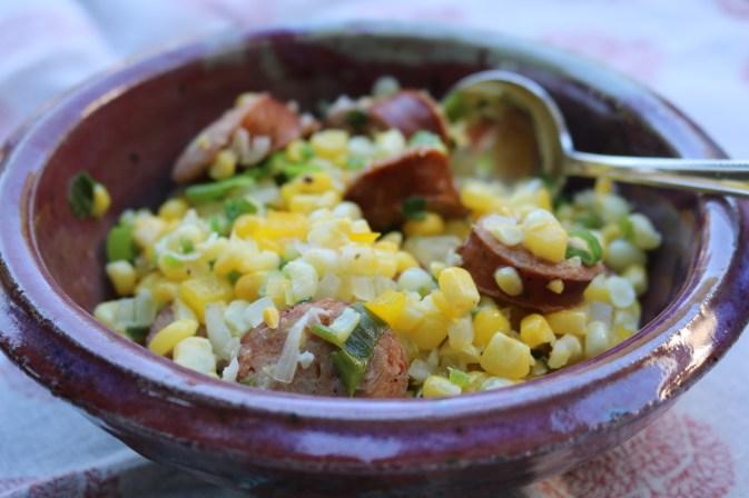 A Creole classic dish, Maque Choix.
