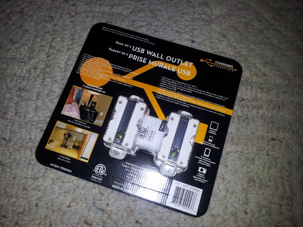 Review, teardown and analysis of Charging Essentials USB wall outlet (2/6)